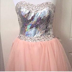 """✨""""GLENDA's 👑 DRESS""""✨SEQUIN CORSET & TULLE SKIRT"""
